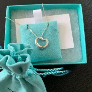 Tiffany and Co. Elsa Peretti open heart Necklace